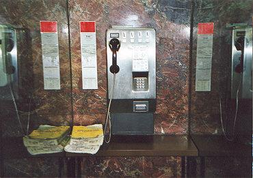"Heavily armored coin phone.  Sheilded with a heavy steel plate, and steel handset cord.</BR></BR><span class=""date-display-single"" property=""dc:date"" datatype=""xsd:dateTime"" content=""2000-02-29T00:00:00+00:00"">Feb 29, 2000</span>"