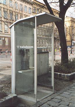 "Newest phonebooth design - matches the shelters at bus stops.</BR></BR><span class=""date-display-single"" property=""dc:date"" datatype=""xsd:dateTime"" content=""2000-02-29T00:00:00+00:00"">Feb 29, 2000</span>"