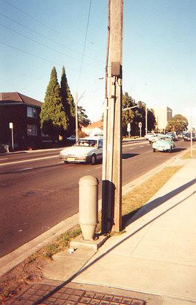 "Street lights are often controlled via the phon lines.  Half-way up the pole is the relay box, next to a pillar cable box.</BR></BR><span class=""date-display-single"" property=""dc:date"" datatype=""xsd:dateTime"" content=""1995-11-02T00:00:00+00:00"">Nov 02, 1995</span>"